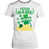 Teacher - St. Patrick's Day Students - District Made Womens Shirt / White / S - 12