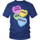 Librarian - Candy Hearts Readers - District Unisex Shirt / Royal Blue / S - 2