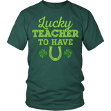 Teacher - Lucky To Have You - District Unisex Shirt / Dark Green / S - 3