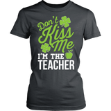 Teacher - Don't Kiss Me - District Made Womens Shirt / Charcoal / S - 11