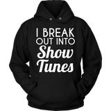 Theater - Show Tunes - Hoodie / Black / S - 8
