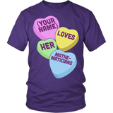 Math - Candy Hearts - District Unisex Shirt / Purple / S - 4