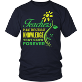 Teacher - Seeds of Knowledge - District Unisex Shirt / Navy / S - 4