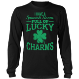 Spanish - Lucky Charms - District Long Sleeve / Black / S - 7
