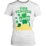 Teacher - St. Patrick's Day Her Students - District Made Womens Shirt / White / S - 12