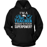 Phys Ed - Superpower - Hoodie / Black / S - 8