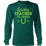 Teacher - Lucky To Have You - District Long Sleeve / Dark Green / S - 1