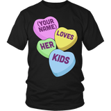 Lunch Lady - Candy Hearts - District Unisex Shirt / Black / S - 5