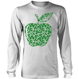 Teacher - Apple Clovers - District Long Sleeve / White / S - 5
