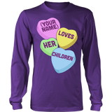 Teacher - Candy Hearts Children - District Long Sleeve / Purple / S - 8
