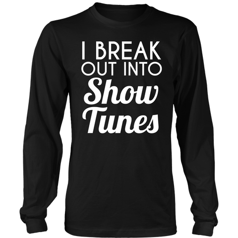 Theater - Show Tunes - District Long Sleeve / Black / S - 1