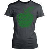 Teacher - Apple Clovers - Broken - District Made Womens Shirt / Charcoal / S - 12