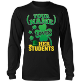 Teacher - St. Patrick's Day Students - District Long Sleeve / Black / S - 8