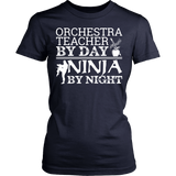 Orchestra - Teacher By Day - District Made Womens Shirt / Navy / S - 12