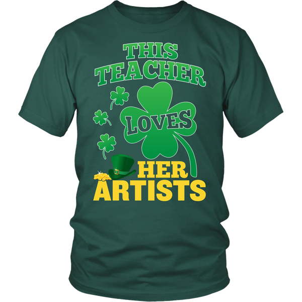 Art - St. Patrick's Artists - District Unisex Shirt / Dark Green / S - 1