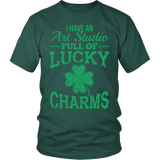 Art - Lucky Charms - District Unisex Shirt / Dark Green / S - 3
