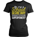 Secretary - Superpower - District Made Womens Shirt / Black / S - 9