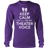 Theater - Keep Calm Voice - District Long Sleeve / Purple / S - 5