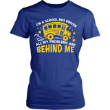 School Bus Driver - Problems - District Made Womens Shirt / Royal / S - 12
