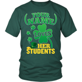 Teacher - St. Patrick's Day Students - District Unisex Shirt / Dark Green / S - 3