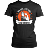 Phys Ed - Not For The Weak - District Made Womens Shirt / Black / S - 11