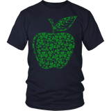 Teacher - Apple Clovers - District Unisex Shirt / Navy / S - 2