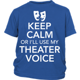 Theater - Keep Calm Voice - Kids - District Youth Shirt / Royal Blue / XS - 1