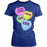 Lunch Lady - Candy Hearts - District Made Womens Shirt / Royal / S - 12
