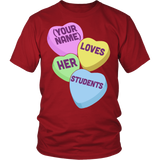 Teacher - Candy Hearts Students - District Unisex Shirt / Red / S - 3