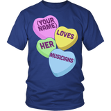 Music - Candy Hearts - District Unisex Shirt / Royal Blue / S - 2