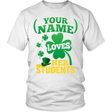 Teacher - St. Patrick's Day Students - District Unisex Shirt / White / S - 2