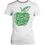 Teacher - Apple Clovers - District Made Womens Shirt / White / XS - 10