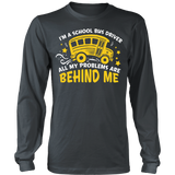 School Bus Driver - Problems - District Long Sleeve / Charcoal / S - 6