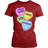 School Bus Driver - Candy Hearts - District Made Womens Shirt / Red / S - 14