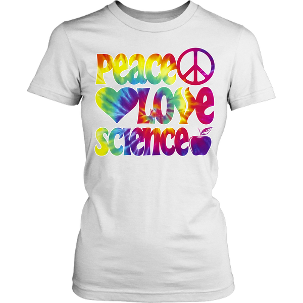 Science - Peace Love - Kids - District Juniors Shirt / White / S - 1