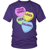 Teacher - Candy Hearts Children - District Unisex Shirt / Purple / S - 4