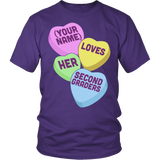 Second Grade - Candy Hearts - District Unisex Shirt / Purple / S - 4