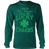 Art - Lucky Charms - District Long Sleeve / Dark Green / S - 6