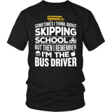 School Bus Driver - Skipping - District Unisex Shirt / Black / S - 4