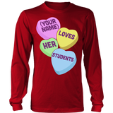Teacher - Candy Hearts Students - District Long Sleeve / Red / S - 7
