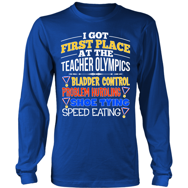 Teacher - Teacher Olympics - District Long Sleeve / Royal Blue / S - 1