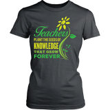 Teacher - Seeds of Knowledge - District Made Womens Shirt / Charcoal / S - 10