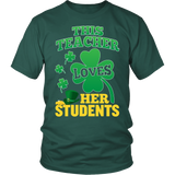 Teacher - St. Patrick's Day Her Students - District Unisex Shirt / Dark Green / S - 3