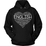 English - Heart - Hoodie / Black / S - 9