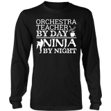 Orchestra - Teacher By Day - District Long Sleeve / Black / S - 7