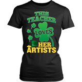 Art - St. Patrick's Artists - District Made Womens Shirt / Black / S - 9
