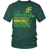 Teacher - Seeds of Knowledge - District Unisex Shirt / Dark Green / S - 5