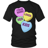 Teacher - Candy Hearts Kids - District Unisex Shirt / Black / S - 5