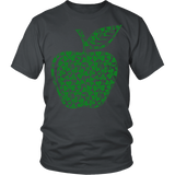 Teacher - Apple Clovers - District Unisex Shirt / Charcoal / S - 3