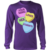 Teacher - Candy Hearts Students - District Long Sleeve / Purple / S - 8